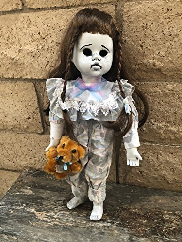 OOAK Child With Bear Creepy Horror Doll Art by Christie Creepydolls from Christie Creepy Dolls