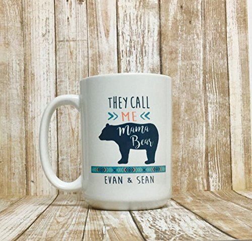 mama bear mug / mama bear / personalized mom mug / gift for mom / gifts for mom / new mom gift / mama bear coffee mug / mother's day gift 2rs Bike Wheel