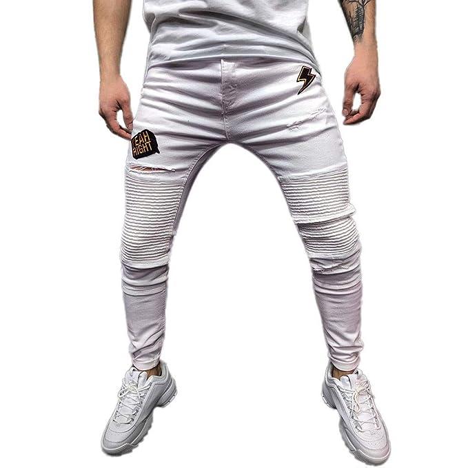 Amazon.com: VonVonCo Pantalones vaqueros para hombre ...