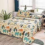 Junsey Kids Quilt Bedspreads Twin Size Bear