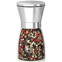 Salt and Pepper Grinder Refillable - Salt and Pepper Shakers with Adjustable Coarseness - Salt Grinders and Pepper Mill
