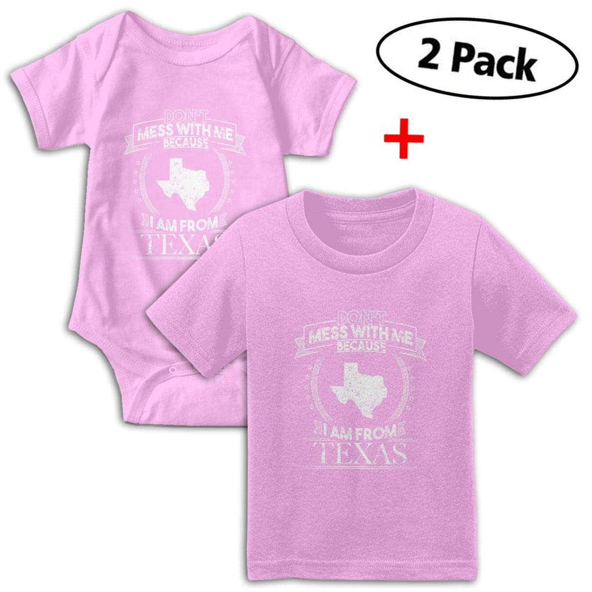 Dont Mess With With Because Im From Texas Babys Boys /& Girls Short Sleeve Romper Bodysuit Outfits And T-shirt