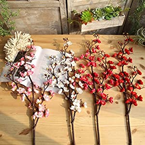 CYCTECH® Artificial Silk Cherry Blossom Branches Flowers Stems Fake Flower Arrangements for Home Wedding Decoration 55