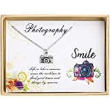 Sunique Camera Necklace Photography Pendant Necklace Photo Necklace Travel Jewelry Gift for Photographer