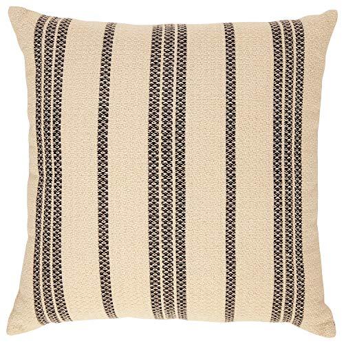 (Stone & Beam Modern Striped Throw Pillow - 18 x 18 Inch, Black Multi)