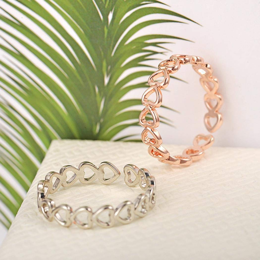 Lindames New Women Fashion Casual Jewelry Charm Wedding Hollow Out Ring Rings