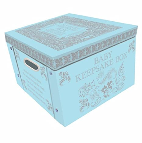 Attirant Blue My Baby Keepsake Box A Lifetime Of Memories Large Collapsible Storage  Box