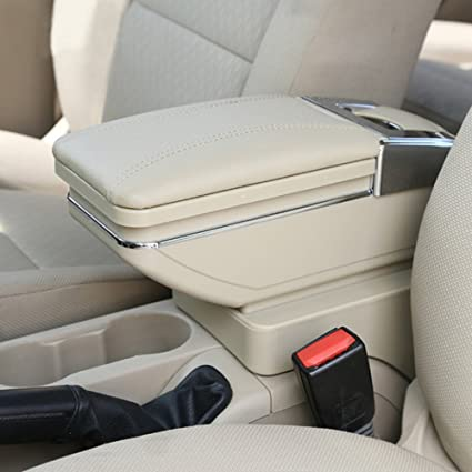 Car Armrest Box Arm Rest Black Deluxe Extensible For Polo 2010-2018 Ashtray Storage Interior Car Styling Decoration Accessories