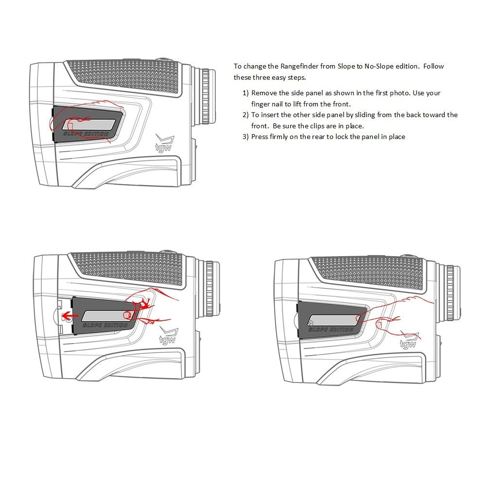 Caddytek Golf Laser Rangefinder with Slope Compensate Distance, CaddyView V2+Slope by CaddyTek (Image #4)