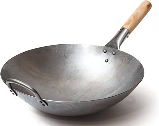 Amazon Com Craft Wok Traditional Hand Hammered Carbon Steel Pow