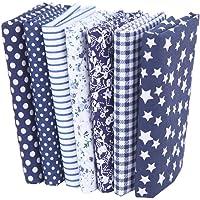 7 piezas de telas de algodón paquete