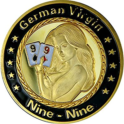 "'Poker Card Guard ""German Virgin véritable plaqué or"
