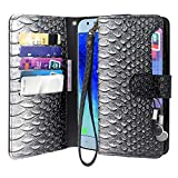 Galaxy J7 2018 Case, J7 Aero, J7 Top, J7 Crown, J7 Aura, J7 Refine, J7 Eon Case, Premium Leather Flip Wallet Case Cover Stand Feature with Card Holder (A-Grey) For Sale