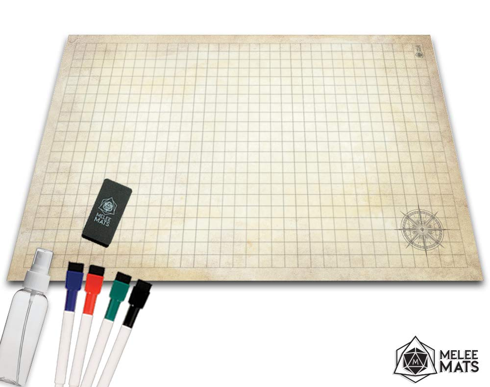 picture relating to Printable Dnd Grid named Beat Grid Recreation Mat - 24x36 Extremely Long lasting POLYMER Written content - Function Participating in DnD Map - Reusable Tabletop Sq. Mats - RPG Dungeons and Dragons Dry
