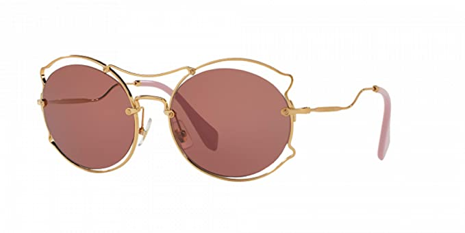 91bd05483c3 Image Unavailable. Image not available for. Colour  Miu Miu Prada Women s  Gold Pink Sunglasses SMU50S