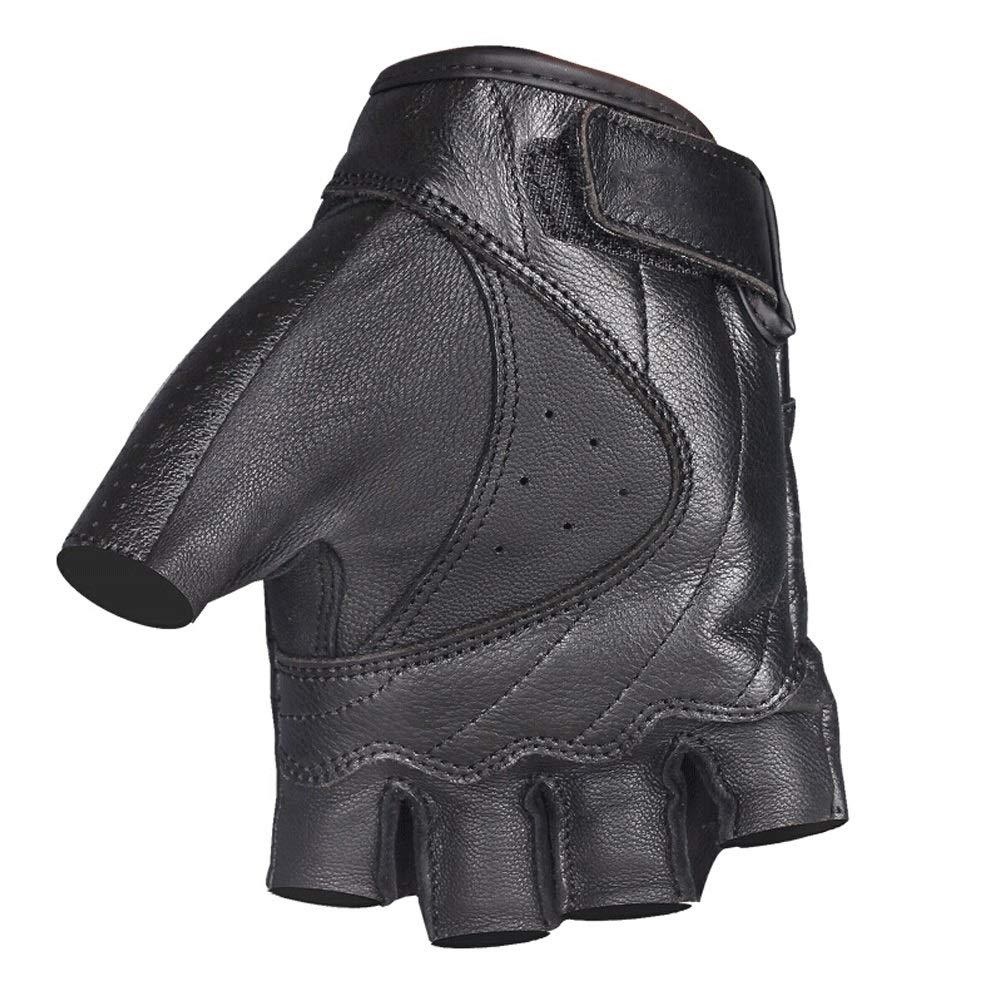 GXY Motorrad Kurze Halbe Fingerhandschuhe Frühling Und Sommer Atmungsaktiv Tragen Langlaufhandschuhe Cross Country Handschuhe, Schwarz Handschuh (größe : XXL)