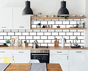"""Trellis White Wallpaper White Wall Paper White Contact Paper Decorative Peel and Stick Wallpaper Self Adhesive Wallpaper Removable Wallpaper Brick Wallpaper Wall Covering Subway Tile 17.7""""×78.7"""" Vinyl"""