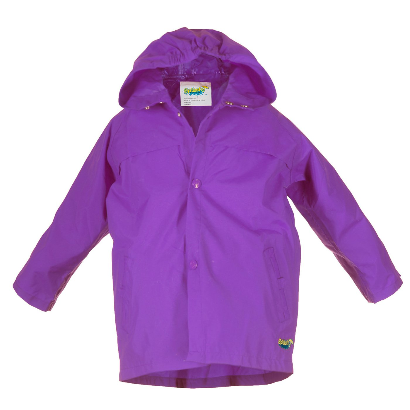 Splashy Children's Rain Jacket (11/12, Purple)