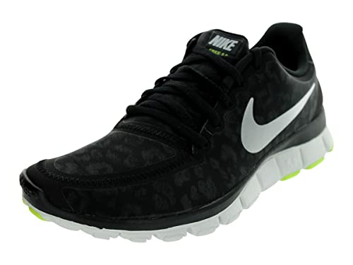 detailed look fc546 9c6c2 Nike WMNS Free 5.0 V4 Leopard - Black Metallic Silver (511281-008) Mens
