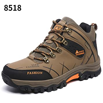 Men's Outdoor Hiking Shoes Comfortable Lightweight Trekking Shoes 39-44 ( Color : Khaki  Size : 39 )