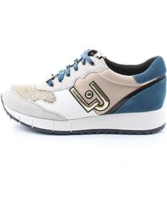 89d56771ad532 Scarpe Donna Sneaker Running Liu-Jo TC 45 MOD Gigi Grigio Rosso ...