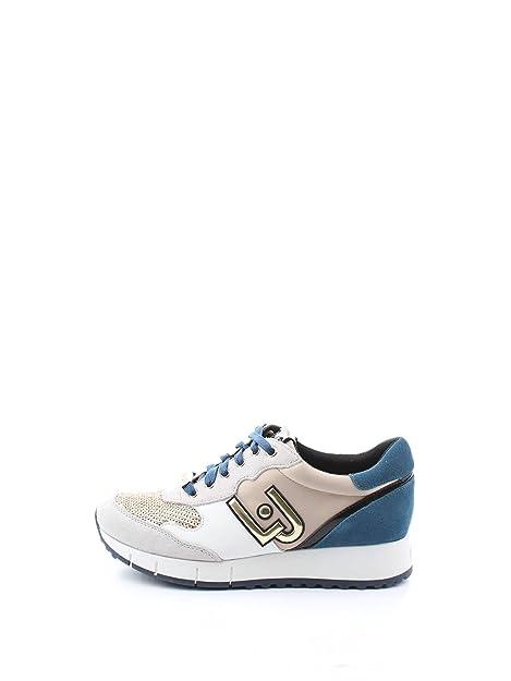 LIU Jo Jeans - Zapatillas para Mujer Blanco White/Ocean: Amazon.es: Zapatos y complementos