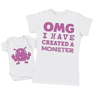 OMG I've Created A Rose Monster! - Ensemble Mère Bébé Cadeau - Femme T Shirt & bébé bodys