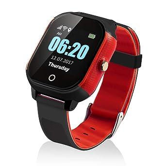 Reloj Inteligente para niños con GPS y Pantalla táctil, Resistente al Agua, con Control Remoto de Voz, Control geográfico y Seguimiento de la ...