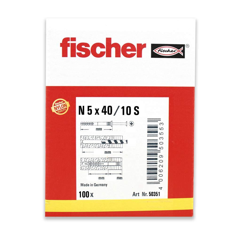 100 - 100 St/ück Art.-Nr fischer Nageld/übel N 5x40//15 S 50351