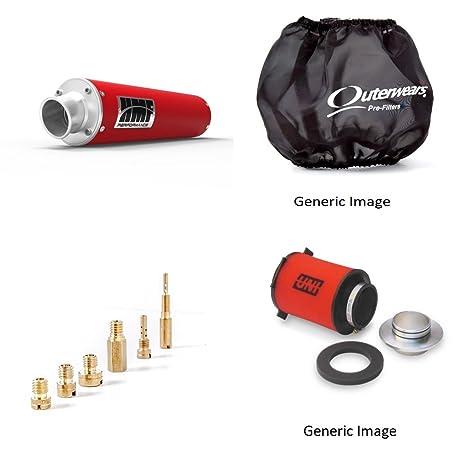 Kit básico de chorro, filtro de aire de espuma, serie de rendimiento roja deslizante