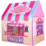 Princess Castle Play Tent Kids Pink Play House Large Indoor/Outdoor Tunnel Pop Up Toys For Baby Parent-child Gift, Summer Shade Toy Play Tent - Conveniently Folds with a Carry Bag
