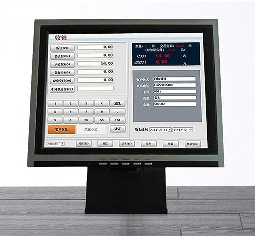 Monitor de sobremesa interactivo POS de 15 pulgadas, pantalla táctil LCD, con múltiples posiciones VGA: Amazon.es: Electrónica