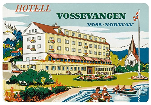 (Hotel Vossevangen Voss Norway Reproduction Luggage Decal 3