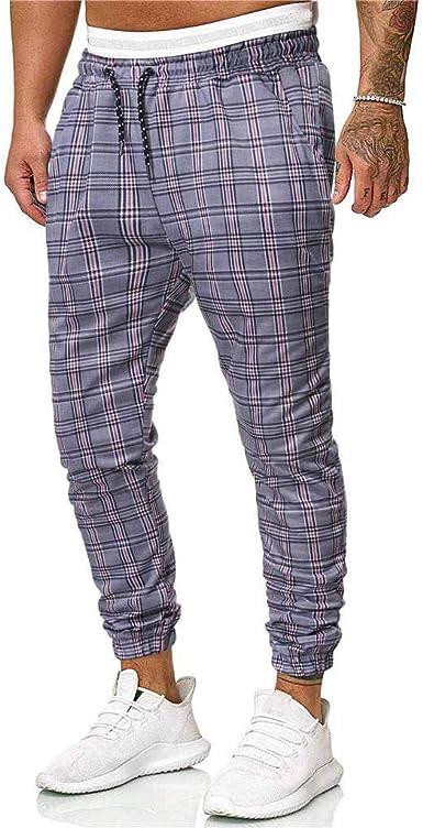 Pantalones Hombre Casuales Deporte Elásticos Joggers,Largos Pants ...
