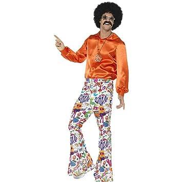 Smiffys Pantalones Acampanados Buena Onda años 60, para Hombre