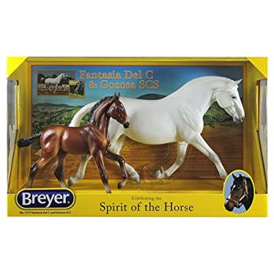 Breyer Traditional Series Fantasia Del C and Gozosa | 2 Horse Set | Model Horse Toy | 1:9 Scale | Model # 1777: Toys & Games