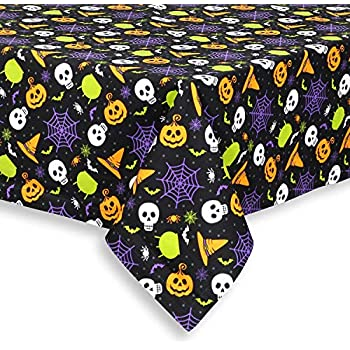 Cackleberry Home Witch's Brew Halloween Cotton Fabric Tablecloth, 60 x 102 Rectangular