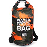 Waterproof Dry Bag 20L, Roll Top Sack Keeps Gear Dry for Kayaking, Rafting, Boating, Swimming, Camping, Hiking, Beach…