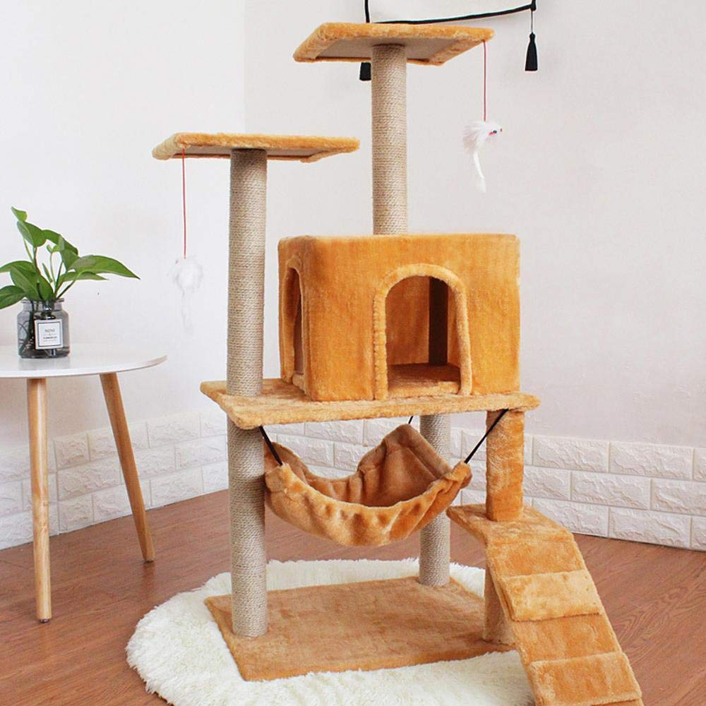 Copper Weiwei Cat climb frame cat nest luxury cat jumping cat grab column sisal cat tree large climbing cat toy 48cm 42cm