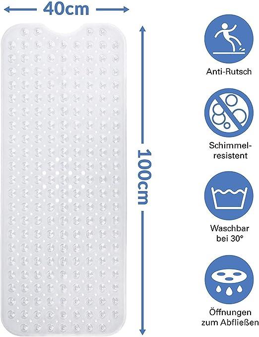 Antirutschmatte Badematte transparent Wanneneinlage Bad Einlage Badewanne