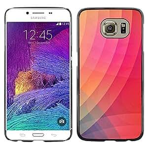 LECELL--Funda protectora / Cubierta / Piel For Samsung Galaxy S6 SM-G920 -- Wallpaper Lines Pink Peach --