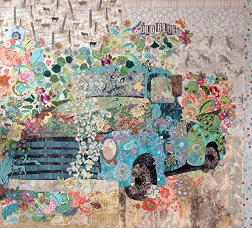 Old Blue Collage Quilt Pattern By Laura Heine by Fiberworks
