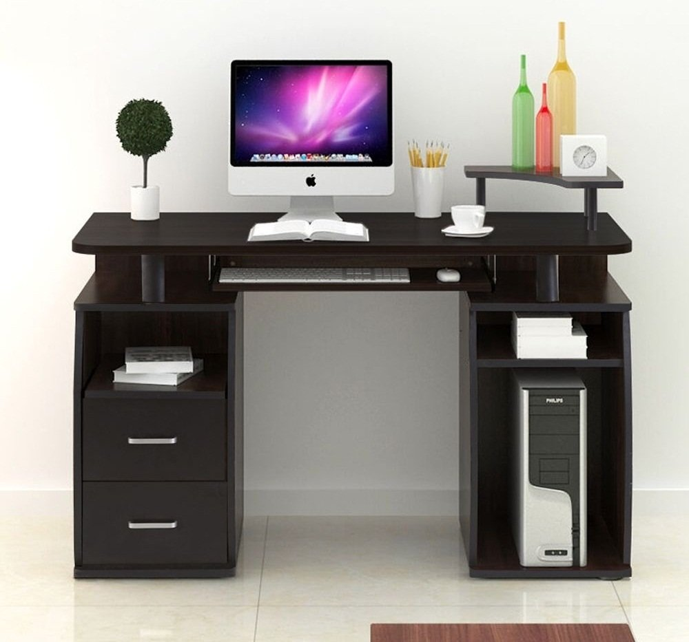 Eight24hours Computer Desk PC Table Workstation Monitor&Printer Shelf Home Office Furniture + FREE E - Book by Eight24hours