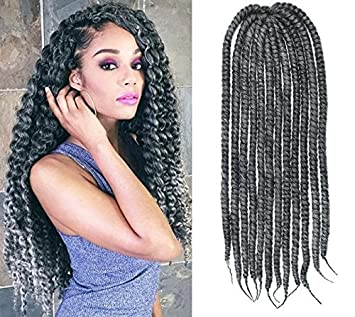 Amazon steel grey color crochet braid hair extensions hair steel grey color crochet braid hair extensions hair braids havana mambo twist style cuban twist pmusecretfo Choice Image