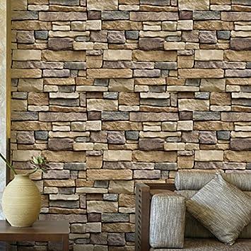 amazon co jp natural simplicity 3d brick stone wallpaper roll