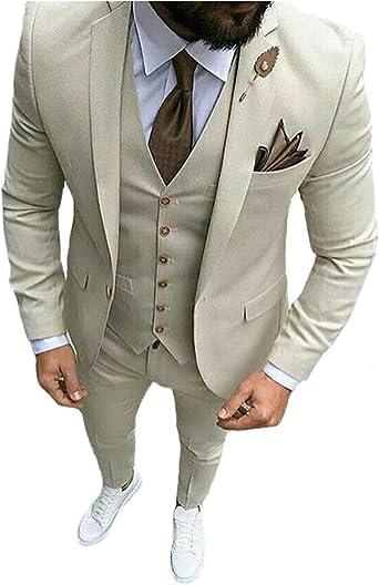 Mens Suits Business Slim Fit Blazer Bestman Groomsman Suits Formal Outfit JZ