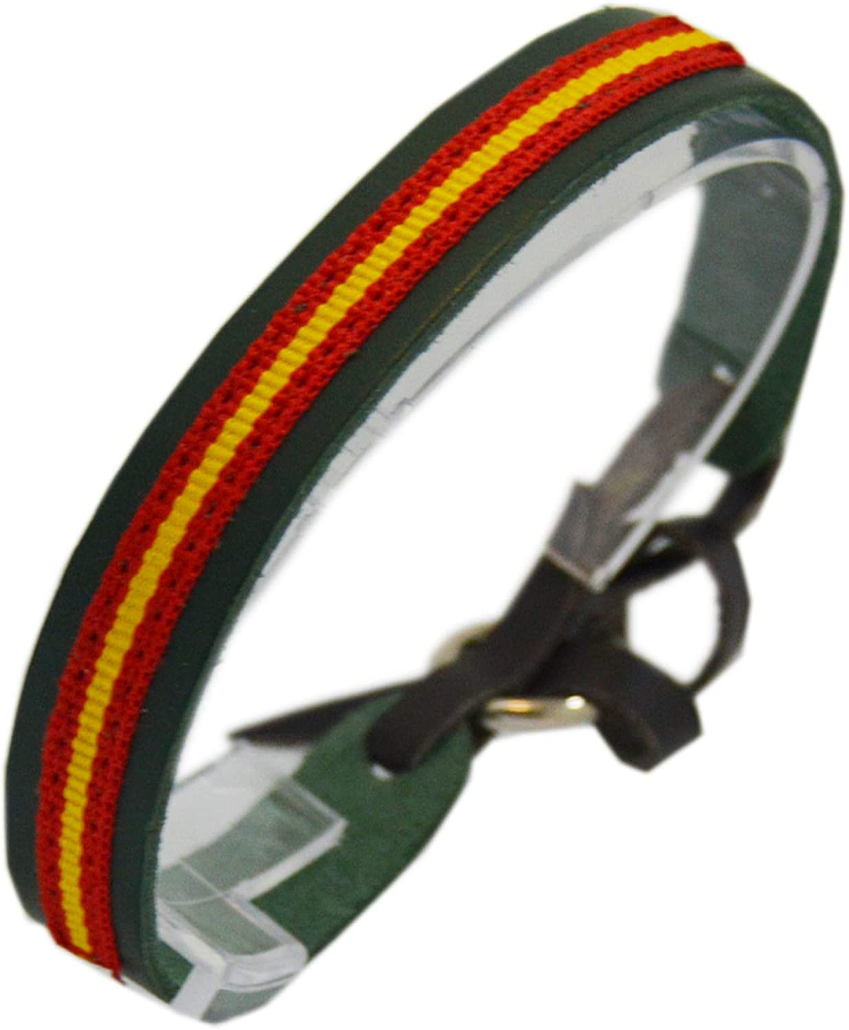 ALBERO Pulsera Guardia Civil Piel color Verde con Bandera de ...