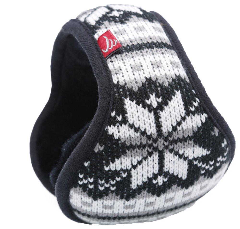 Warm-U ovillo de lana de Unisex gran Copo de nieve patrón plegable/ajustable Wrap alrededor orejeras...