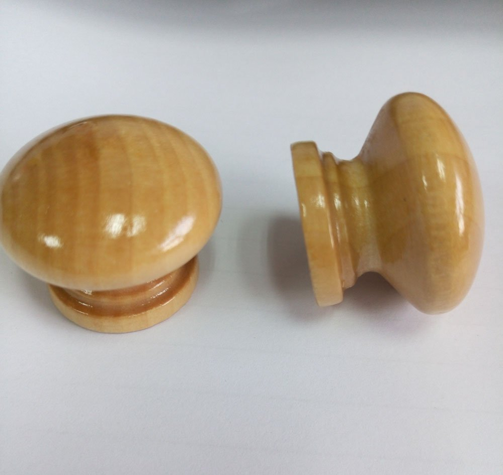 50Pcs Furniture Drawer Door Cabinet Closet Wood Round Knob Pull Handle-Small by supers (Image #4)
