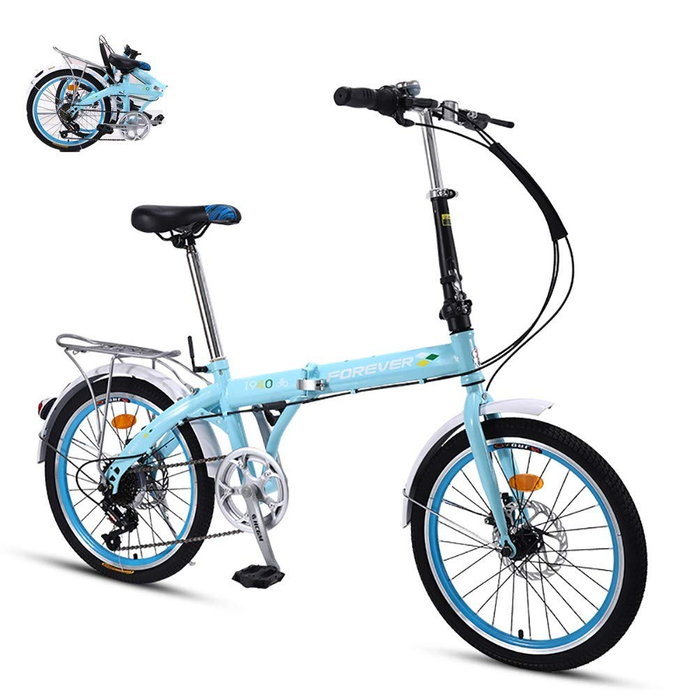 Ligera Bicicleta Plegable,Adulto Folding Bike con Doble ...